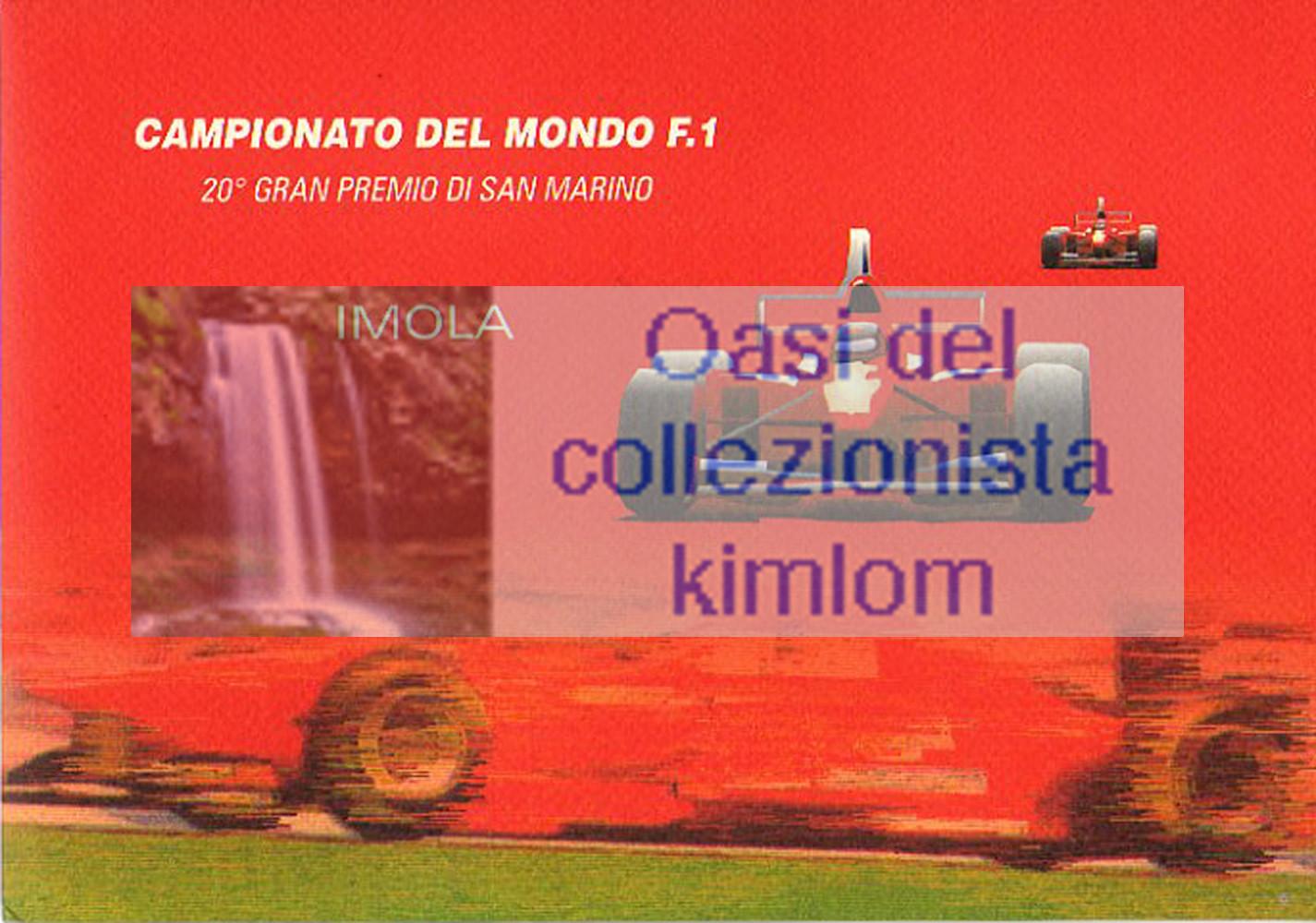 folder - Campionato del mondo F.1 20° gran premio di San Marino