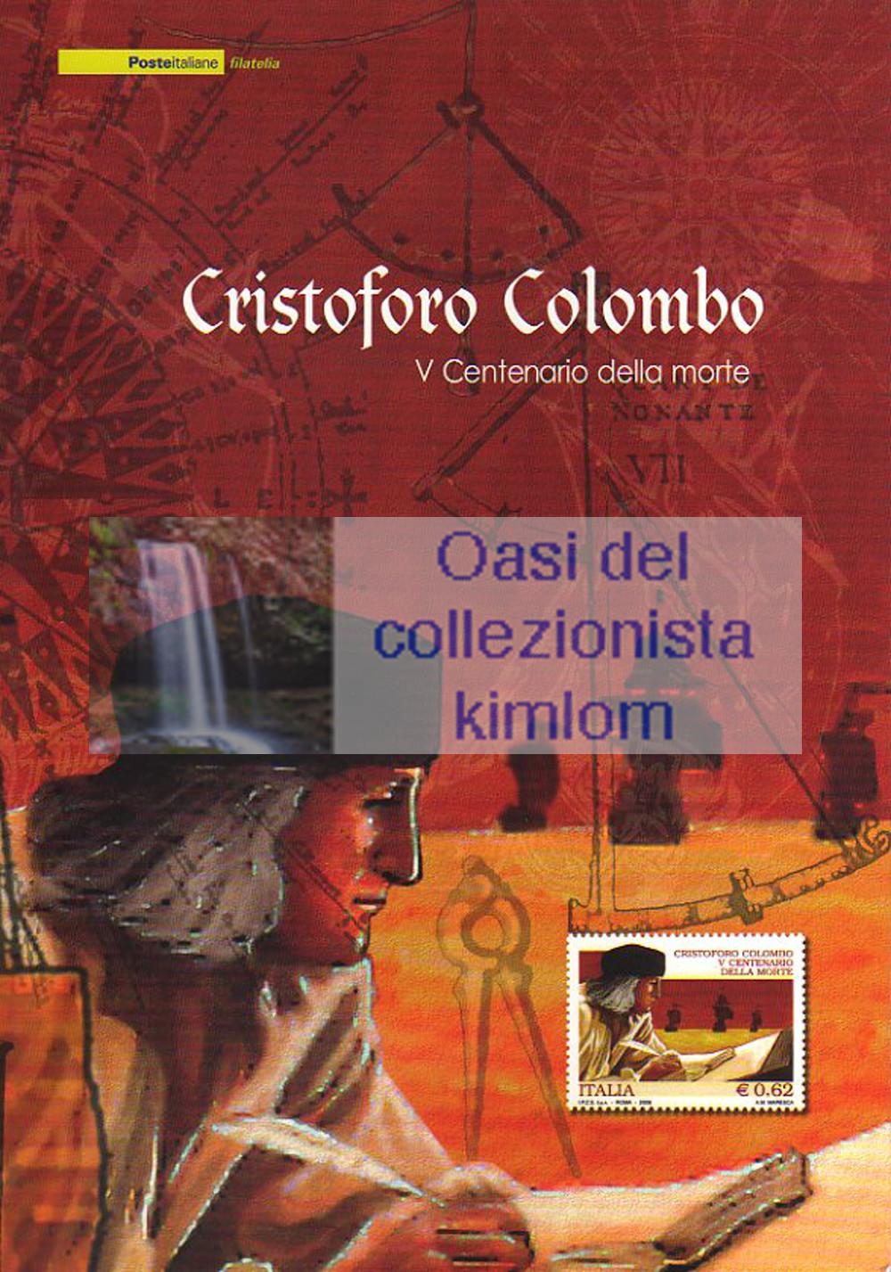 folder - Cristoforo Colombo V° centenario della morte
