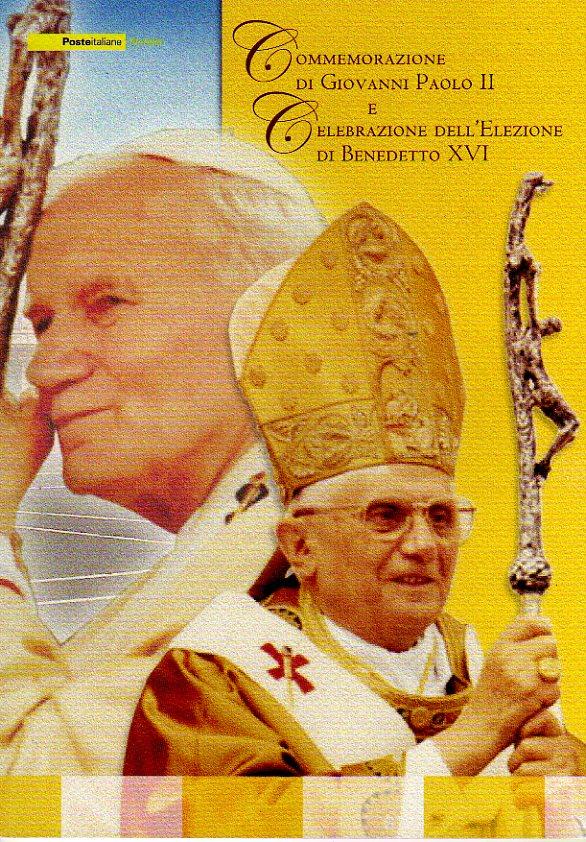 folder - I due Papi, Commemorazione di Giovanni Paolo II e celebrazione dell'elezione di Benedetto XVI