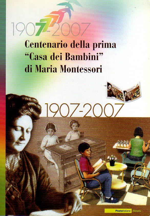 """folder - Centenario della prima """"Casa dei Bambini"""" di Maria Montessori"""