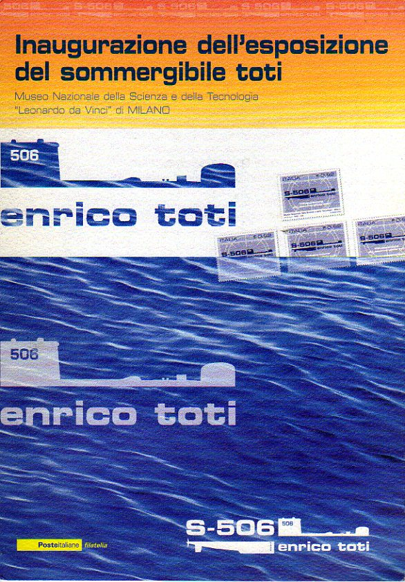 folder - Inaugurazione dell'esposizione del sommergibile Toti