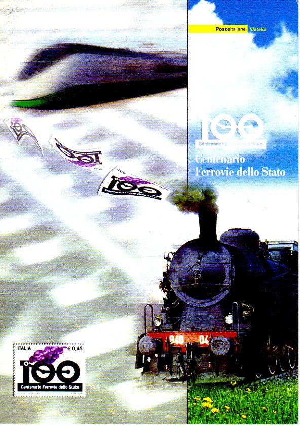 folder - Centenario ferrovie dello stato